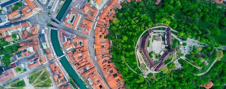 Ljubljana von oben
