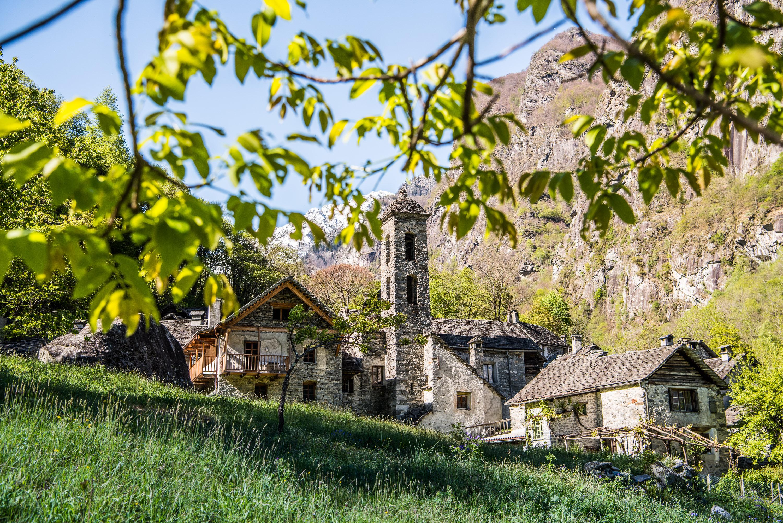 Foroglio, wunderschöne und traditionelle Architektur