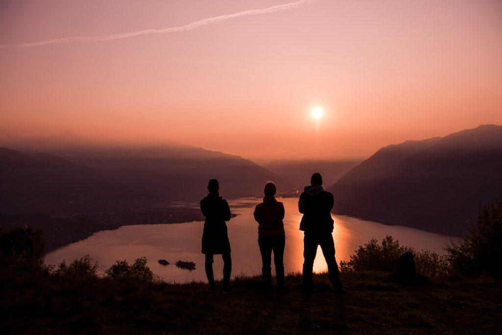 Laura, Stefano und Rayana auf dem Borei