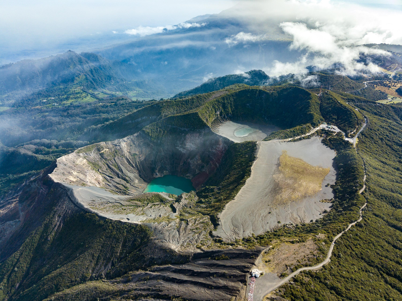 Die Krater vom Vulkan Irazú
